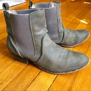 Gray Suede J Crew Ankle Boots